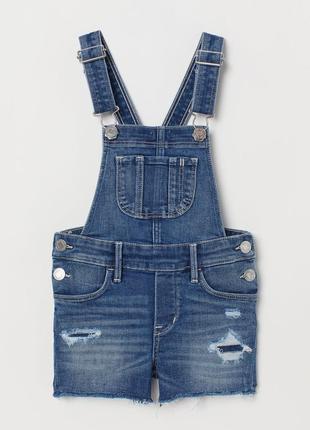 Новий джинсовий комбінезон шорти h&m розм. 6-7 р./1221 фото