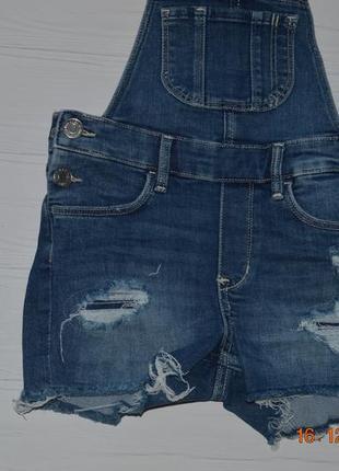 Новий джинсовий комбінезон шорти h&m розм. 6-7 р./1223 фото