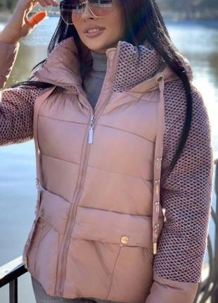 Куртка с вязкой 👍👍👍