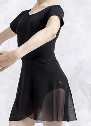 Шифоновая юбка хитон балетный для танцев тренировок чёрный 🖤 оверсайз
