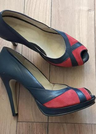 Туфли синие  итальянские р.38,8-39 тм paula martani