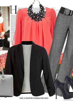 Блуза из вискозы кораллового цвета от marks & spencer woman