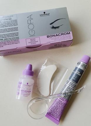 Краска для бровей и ресниц schwarzkopf professional igora bonacrom