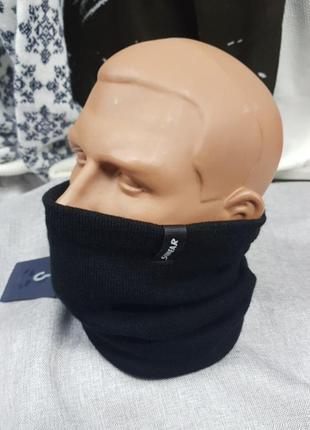 Мужской баф,чёрный, на флисе,фабричный пошив,шарф,бафф,унисекс2 фото