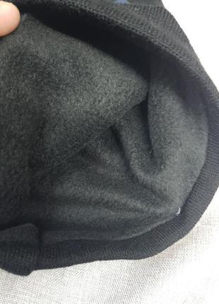 Мужской баф,чёрный, на флисе,фабричный пошив,шарф,бафф,унисекс4 фото