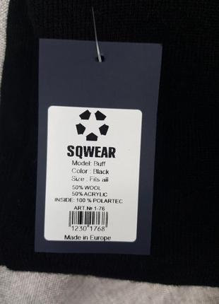Мужской баф,чёрный, на флисе,фабричный пошив,шарф,бафф,унисекс5 фото