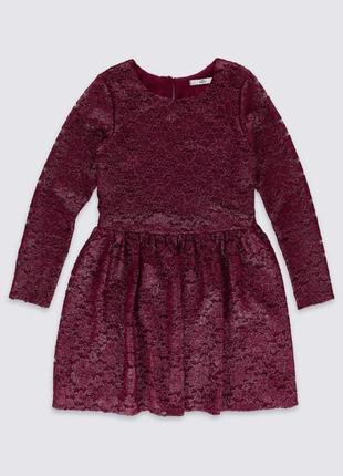 Гипюровое платье m&s  для 10-11 лет