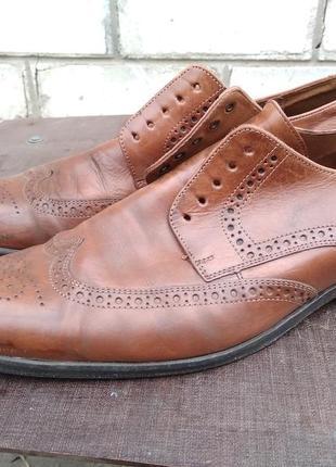 Туфли броги мужские кожанные 42.5 lloyd