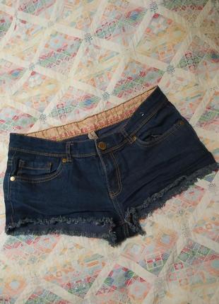 Ультра короткие шорты с бахромой