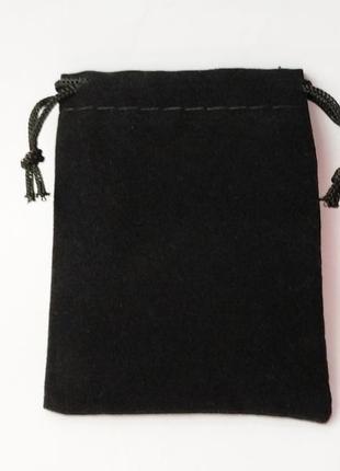 Черный бархатный мешочек 5*7 см. 1 шт. упаковка для бижутерии