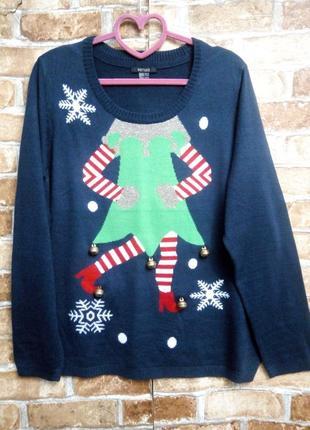Новогодний свитер с колокольчиками