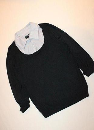 Оригинальный джемпер свитер с блузой marks & spencer