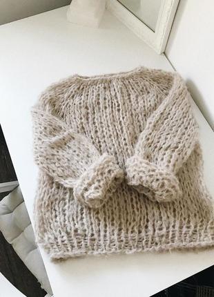 Уютный тёплый свитер freesize☁️