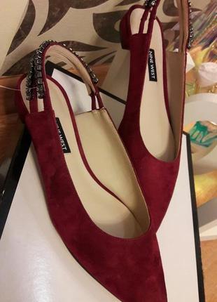 Туфли замшевые nine west3 фото