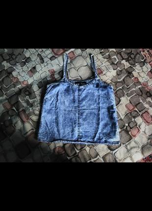 Майка джинсовая