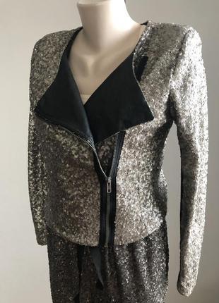 Куртка-косуха в пайетки
