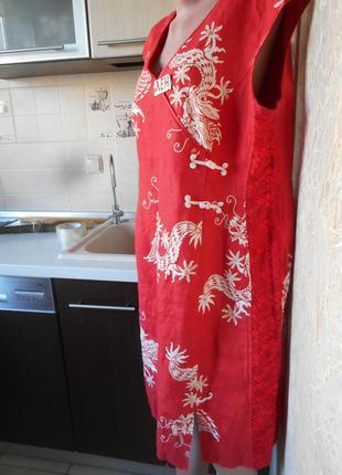 #dresses#роскошное льняное платье в восточном стиле #большой размер 42   #