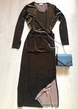 Бархатный костюм / юбка / кофта