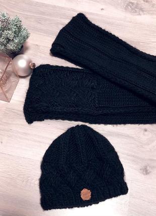 Набор шапка шарф вязка