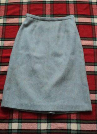 Шерстяная юбка для офиса, винтаж, ретро, юбка на новый год, юбка в школу, юбка в офис