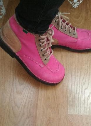 Мега крутие кожаные ботинки kickers 38р