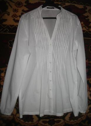 Легкая белая блузка,рубашка