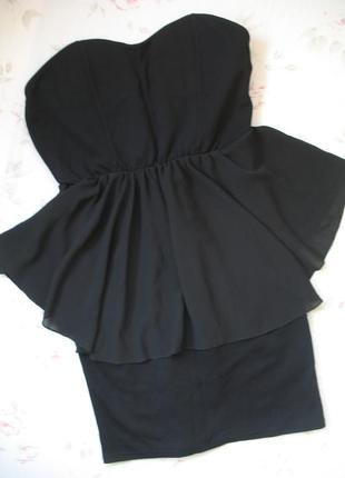 *новогодняя скидка*платье черное с открытыми плечами