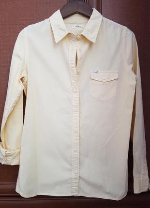 Рубашка#жовта# lee#джинсова#