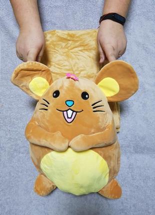 Игрушка подушка - плед мыша