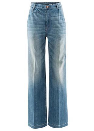 Голубые джинсы с высокой посадкой h&m, 34