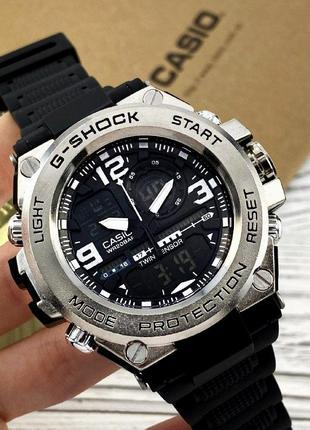 Чоловічій годинник casio g-shock glg-1000 black-silver