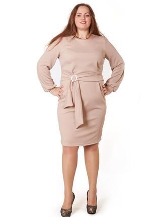 Платье большого размера футляр миди