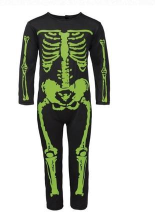 Карнавальные костюмы скелетик с маской , на рост 116 см
