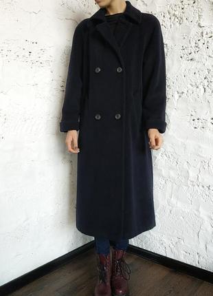 Демисезонное двубортное пальто шерсть, ангора, качество.