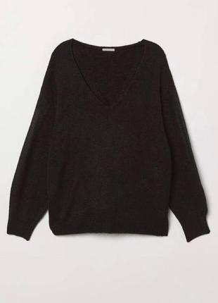 Стильный шерстяной оверсайз свитер букле h&m шерсть альпака