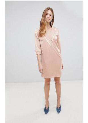 Платье золотое vila