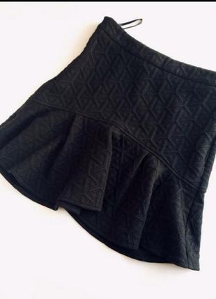 Фактурная теплая юбка