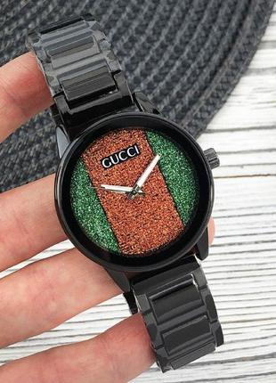 Жіночій сталевий годинник black