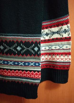 Двойной шарф с орнаментом 190*28