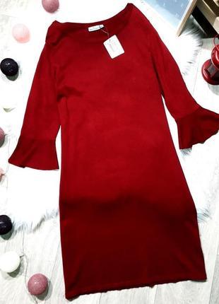 Красивое винное 🍷 платье тонкой вязки, blue motion