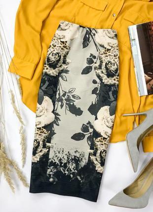 Женственная юбка карандаш в цветочный принт  ki1951042  next