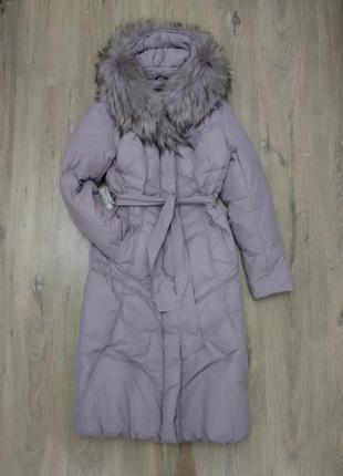 Срочно за пол цены! шикарное! теплое пальто snow owl, пух-перо