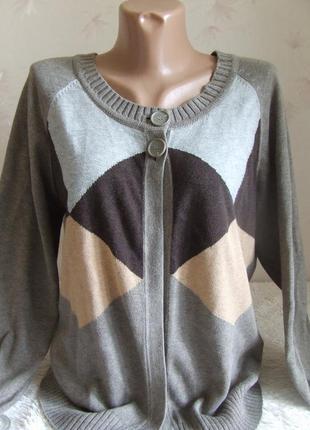 Стильный кардиган mexx, хлопок, размер 48-50