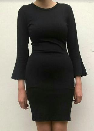 Маленькое чёрное платье бандажное коктейльное ginatricot