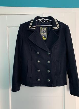 Шерстяное пальто superdry