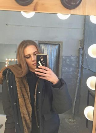 Зимняя курточка zara с мехом