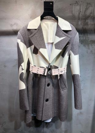 Красивый пиджак блейзер пальто шерстяной бренд 2020