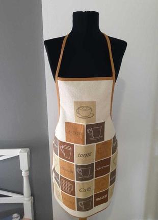 Фартук кухонный с защитным покрытием home line кофе