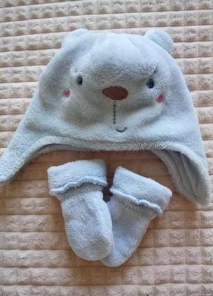 Набор шапочка и рукавички