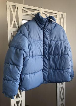 Стильная укороченная куртка пуффер h&m